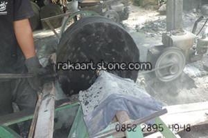 Proses Pembuatan Silinder Batu