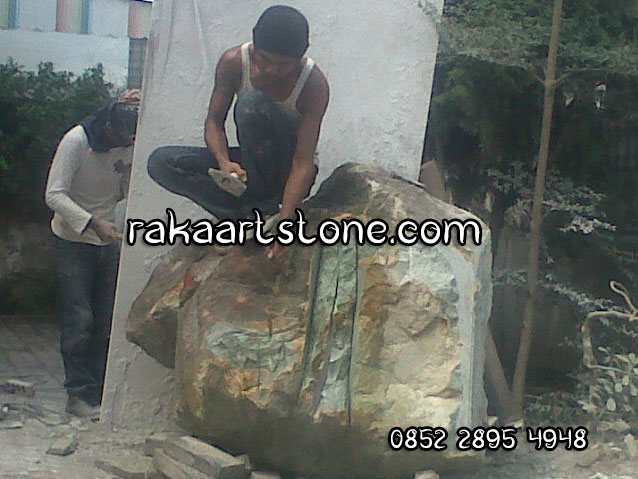 Proses Pembuatan Patung Batu Alam